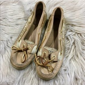 Sperry top sider glitter slip on shoes woman's 6.5